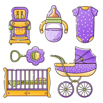 Conjunto de acessórios de bebê para o recém-nascido