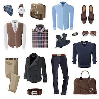 Conjunto de acessórios de homem de negócios de moda