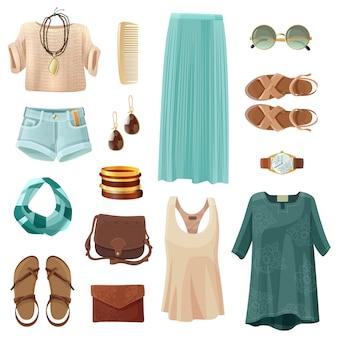 Conjunto de acessórios de moda mulher