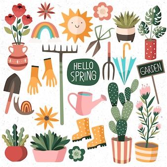 Conjunto de acessórios de primavera