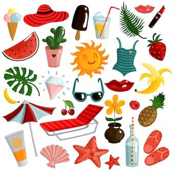 Conjunto de acessórios de verão
