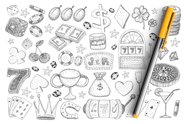 Conjunto de acessórios e ferramentas para jogos de azar