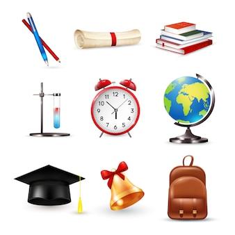 Conjunto de acessórios escolares