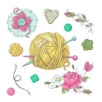 Conjunto de acessórios para crochê e tricô