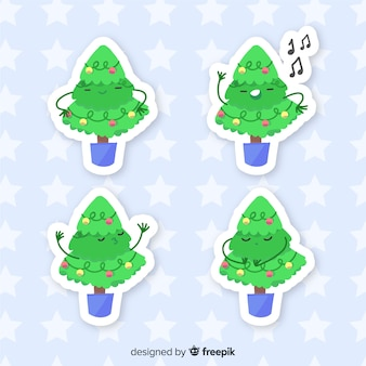 Conjunto de adesivo de árvore de natal