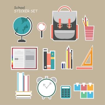 Conjunto de adesivo de escola
