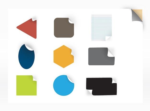 Conjunto de adesivos coloridos vector