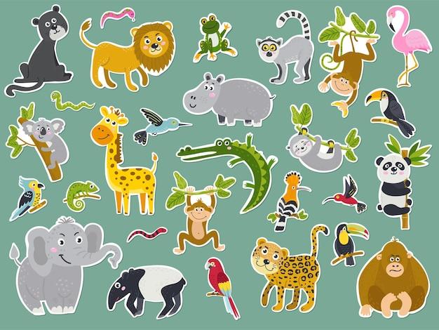 Conjunto de adesivos com animais