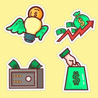 Conjunto de adesivos criativos para patrocinadores