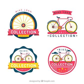 Conjunto de adesivos de bicicleta retro