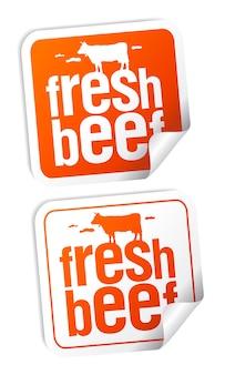 Conjunto de adesivos de carne fresca