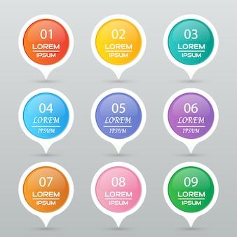 Conjunto de adesivos de círculo