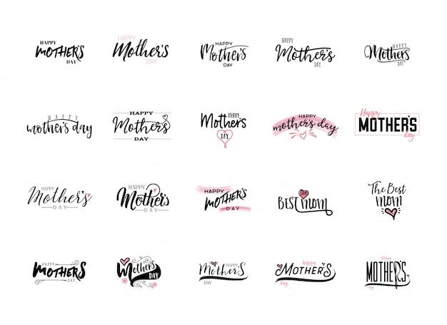 Conjunto de adesivos de dia das mães