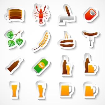 Conjunto de adesivos de festa de cerveja de álcool