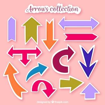 Conjunto de adesivos de flecha coloridos