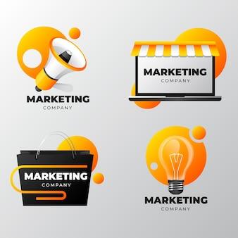 Conjunto de adesivos de marketing