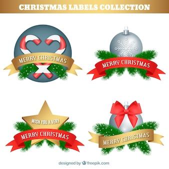 Conjunto de adesivos de natal decorativos