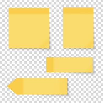 Conjunto de adesivos de nota de papel vazio colorido
