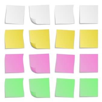 Conjunto de adesivos de papel colorido. ilustração