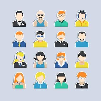 Conjunto de adesivos de personagens de avatar