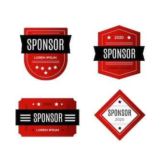 Conjunto de adesivos de promoção do patrocinador