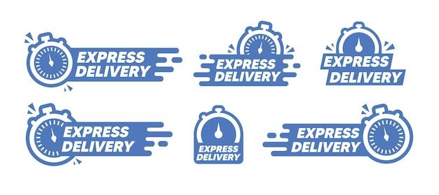 Conjunto de adesivos de temporizador. cronômetro, relógio, ícones de cronômetro