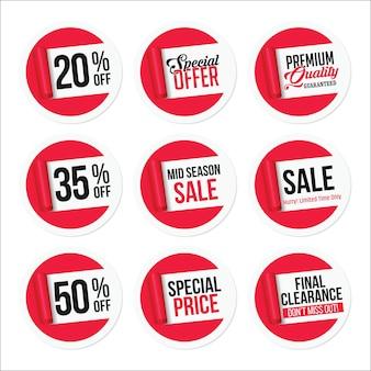 Conjunto de adesivos de venda promocional