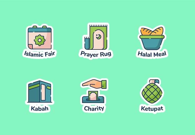 Conjunto de adesivos do ramadã