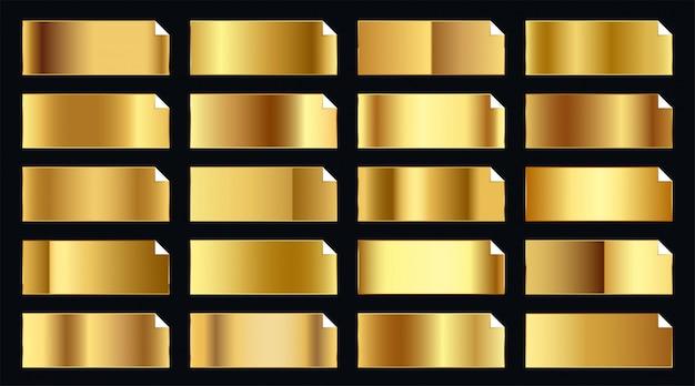 Conjunto de adesivos dourados preciosos