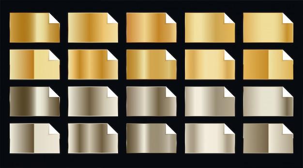 Conjunto de adesivos dourados premium