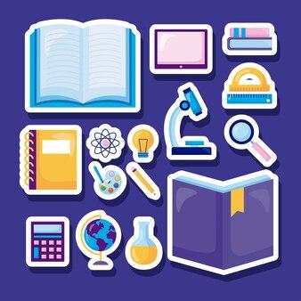 Conjunto de adesivos escolares
