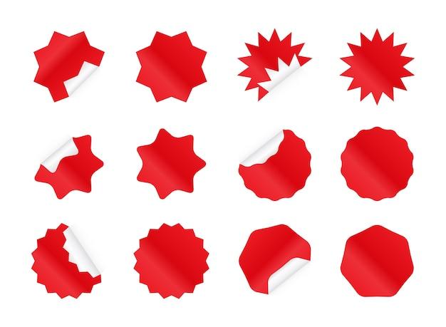 Conjunto de adesivos starburst