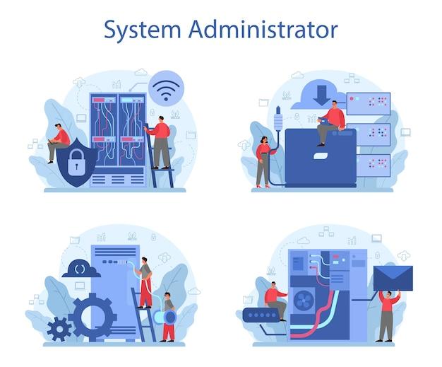 Conjunto de administrador do sistema.