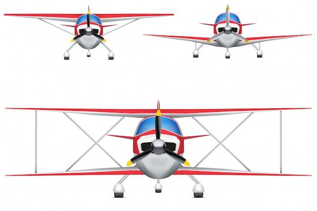 Conjunto de aeronaves civis leves