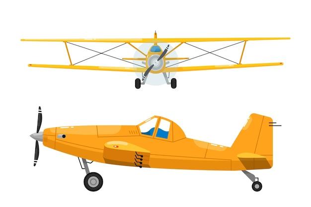 Conjunto de aeronaves leves. biplano