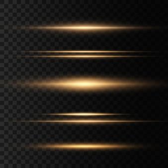 Conjunto de alargamentos de lente horizontal amarelos