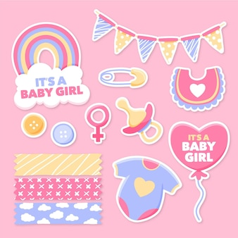 Conjunto de álbum de recortes de chá de bebê