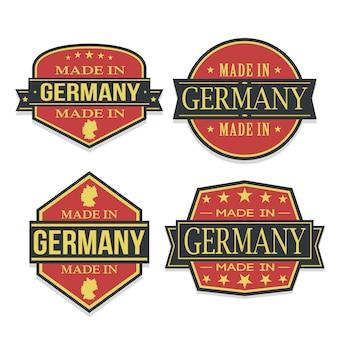 Conjunto de alemanha de viagens e negócios stamp desenhos