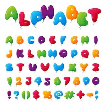 Conjunto de alfabeto de balão