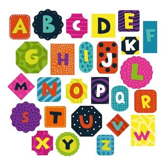 Conjunto de alfabeto de crianças