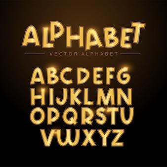 Conjunto de alfabeto de ouro