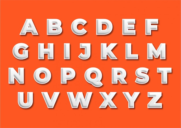 Conjunto de alfabeto de título de decoração de promoção