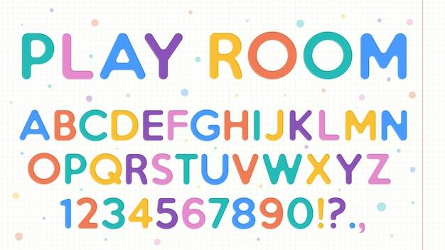 Conjunto de alfabeto escolar colorido