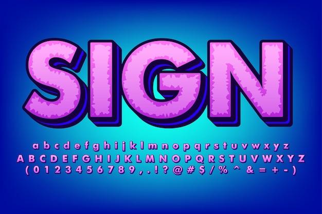 Conjunto de alfabeto ousado e moderno