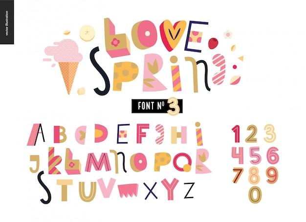 Conjunto de alfabeto plana de crianças