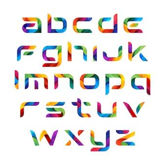 Conjunto de alfabetos coloridos modernos