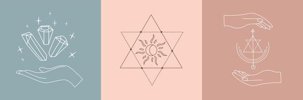 Conjunto de alquimia esotérica mágica mística talismã
