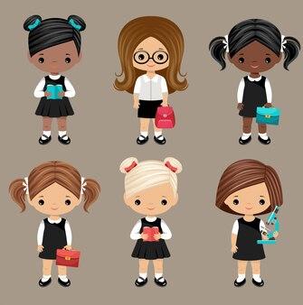 Conjunto de alunas