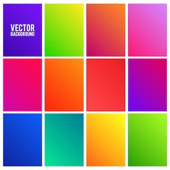 Conjunto de amostras de gradientes coloridos vibrantes