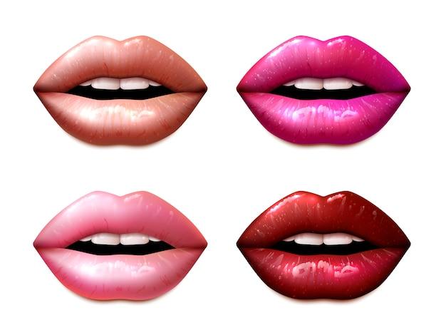 Conjunto de amostras lipstic